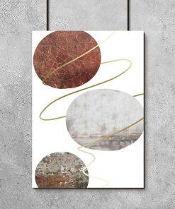 plakat z motywem kamienia