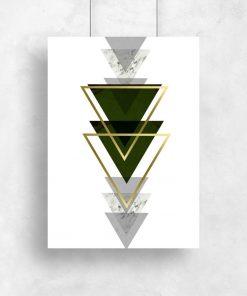 plakaty z motywem trójkątów