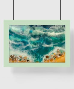 Plakat resin art - Muszle na pięknej plaży