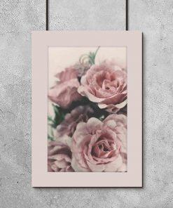Plakat z bukietem pięknych róż