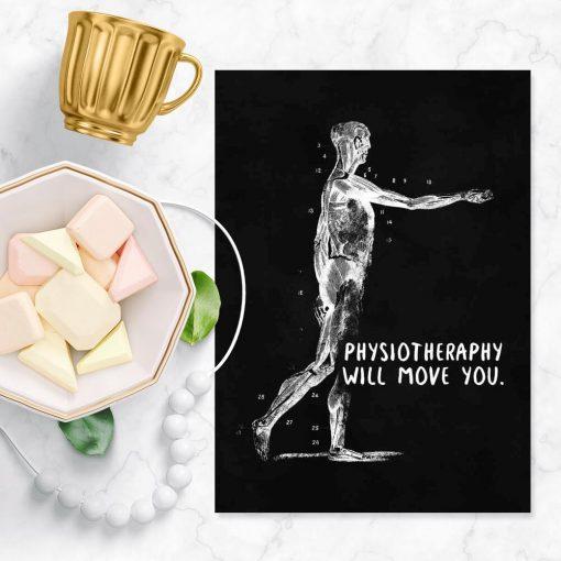 Plakat z budową anatomiczną - Physiotheraphy
