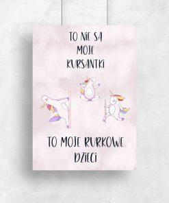 Plakat - Tańczące jednorożce