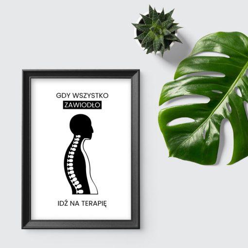 Plakat w prezencie dla fizjoterapeuty - Idź na terapię