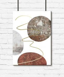 plakat do salonu z kamiennymi kołami