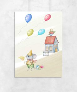 Plakat dla dziecka - Urodzinowa myszka