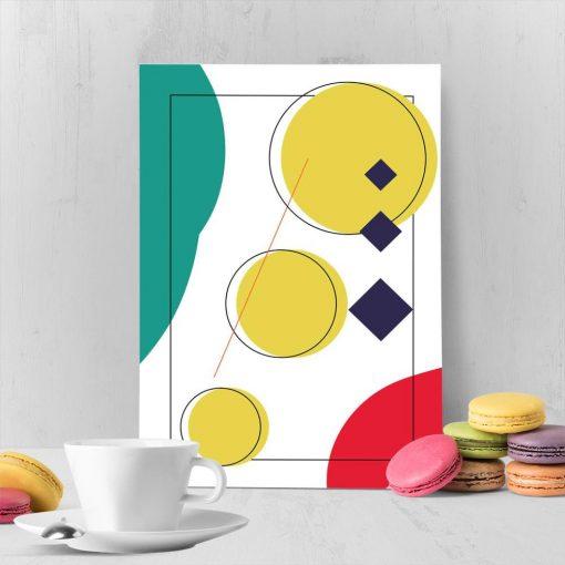 kolorowy plakat w foremne kółeczka