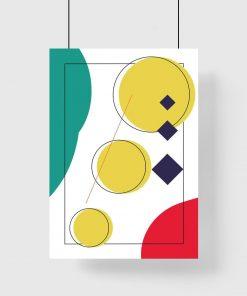plakat w ramie- kolorowa abstrakcja