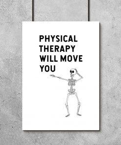 plakat dla fizjoterapeuty z napisem po angielsku