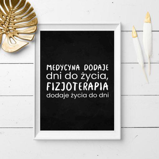 Plakat do gabinetu fizjoterapeuty - Fizjoterapia