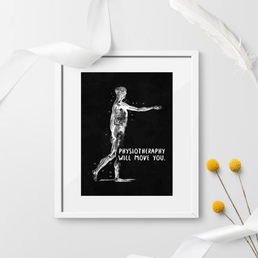Plakat z anatomią - Physiotheraphy