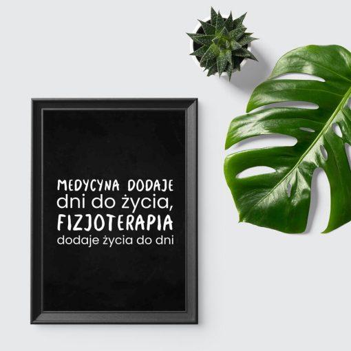 Plakat do gabinetu fizjoterapii - Fizjoterapia