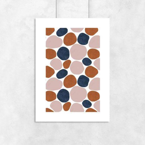 plamki w kolorze beżowym na plakacie do salonu