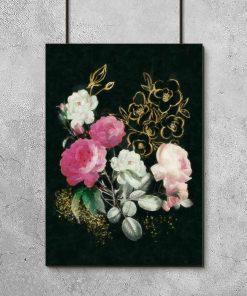 Plakat w ramie z różami