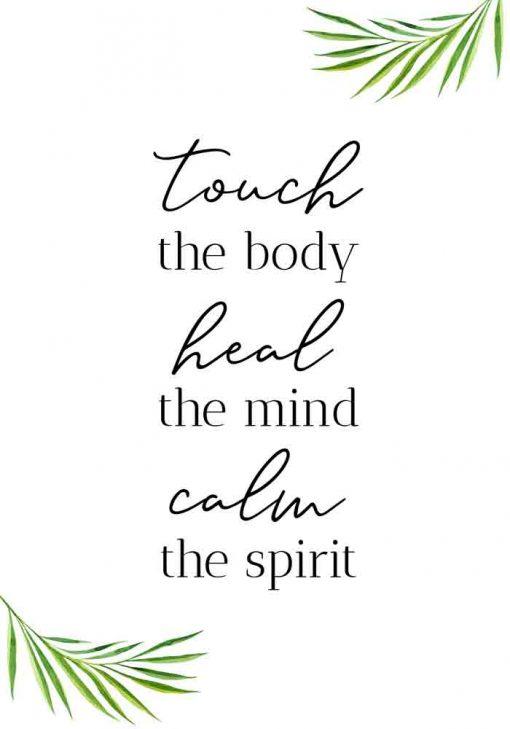 Plakat z napisem - Touch the body