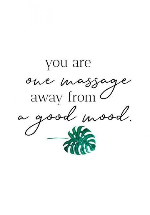 Plakat z napisem - One massage