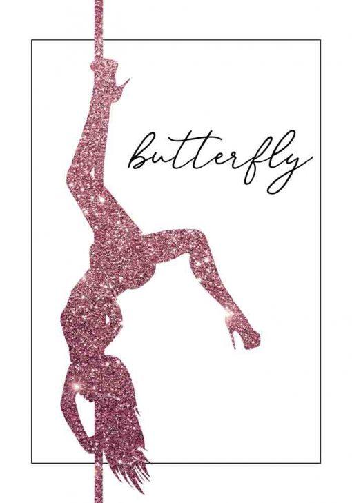 Plakat z napisem - Butterfly