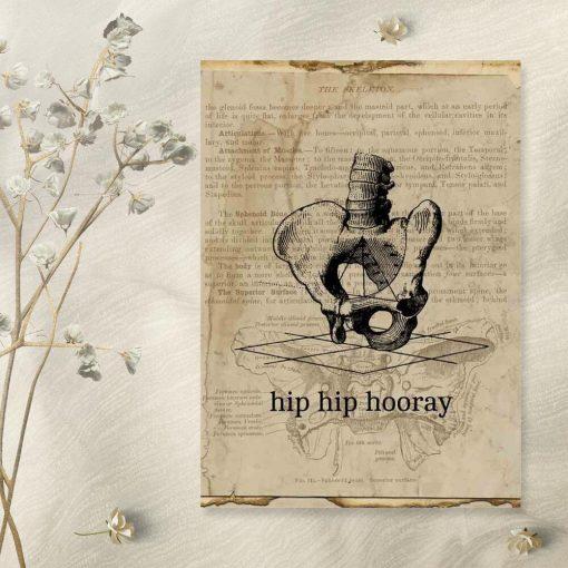 Plakat typograficzny - Hip hip hooray