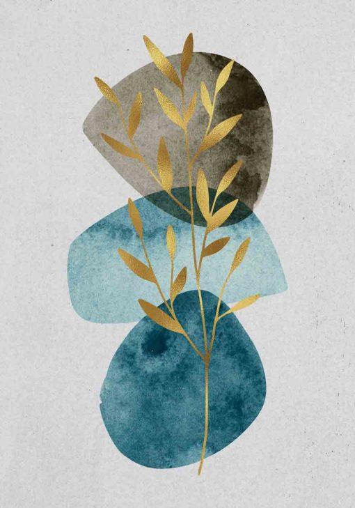 Plakat - Gałązka na abstrakcji