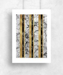 Plakat do pokoju - Geometryczny marmur