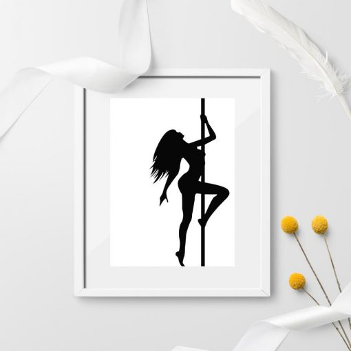 Plakat - Tancerka pole dance