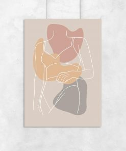 Plakat z sylwetką kobiety do salonu