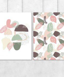 Plakat dyptyk z abstrakcyjnym wzorem do salonu