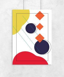 Motywy geometrii na plakacie