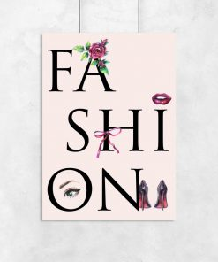 Plakat z motywem typografii