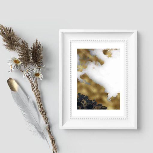 Plakat - Czarno-biała abstrakcja na prezent