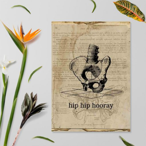 Plakat dla fizjoterapeuty - Hip hip hooray
