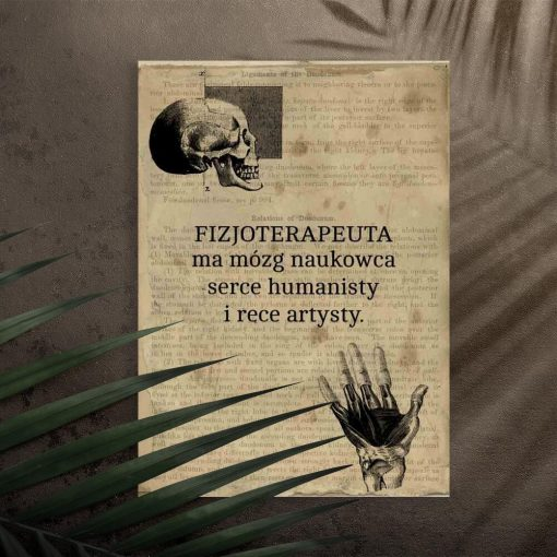 Plakat vintage do gabinetu fizjoterapii
