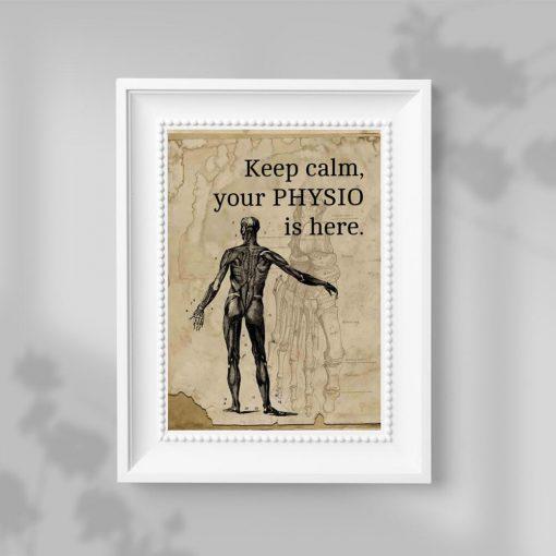 Plakat dla fizjoterapeutów - Keep calm