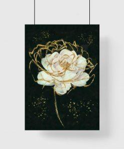 Biała róża na plakacie