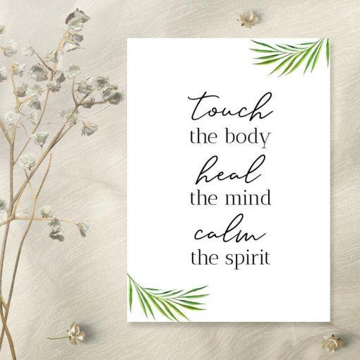 Plakat dla fizjoterapeuty - Touch the body