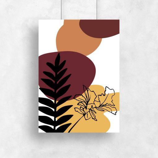 Plakaty z motywem botanicznym o raz abstrakcji
