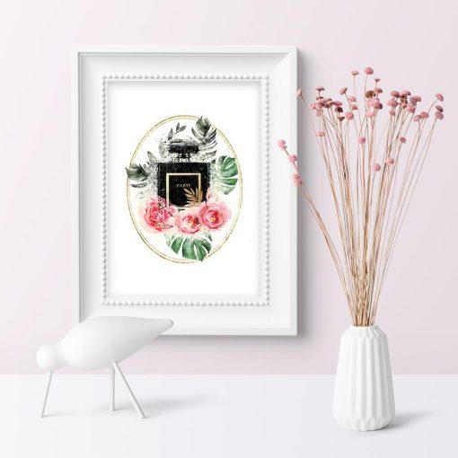 Plakat z perfumami paris do salonu