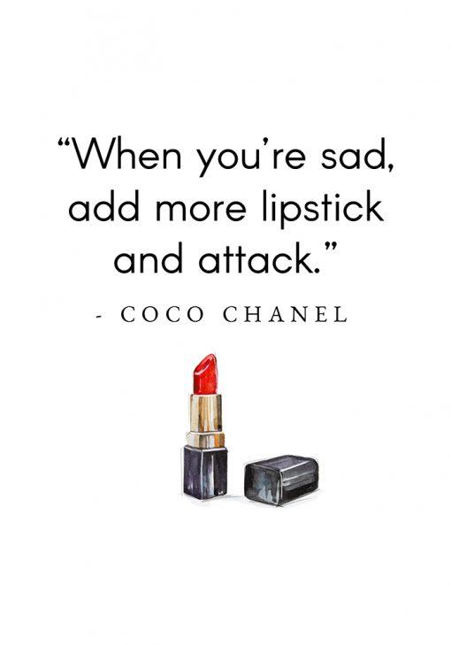 Plakat z cytatem Coco Chanel