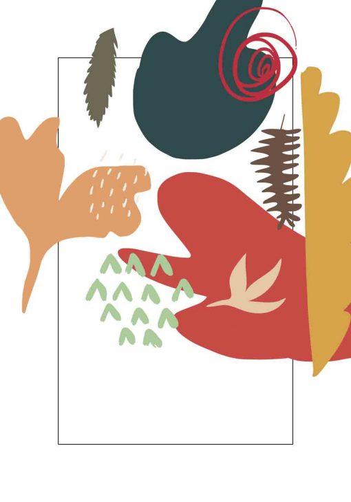 Plakat z motywem kolorowej abstrakcji