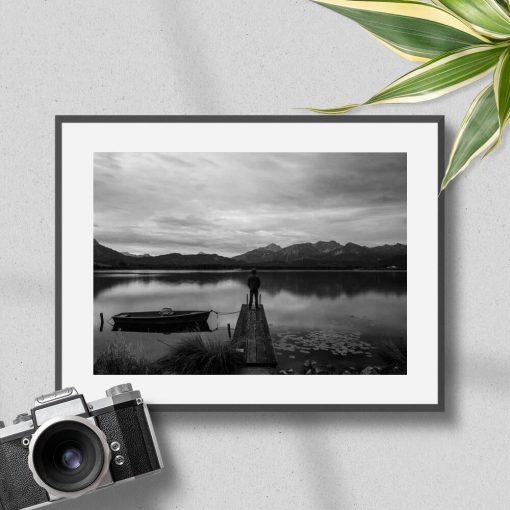 Plakat z jeziorem do przedpokoju