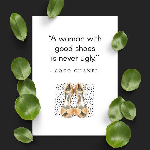 Plakat Coco Chanel dla kobiet - Good shoes
