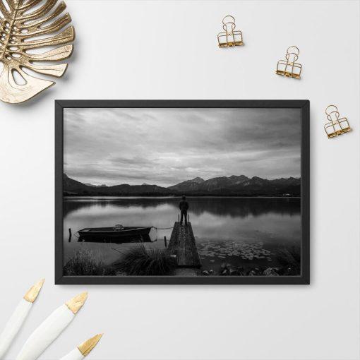 Plakat z jeziorem na prezent