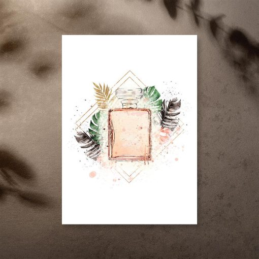 Plakat z perfumami na prezent