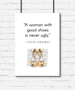 Plakat Coco Chanel do pokoju - Good shoes