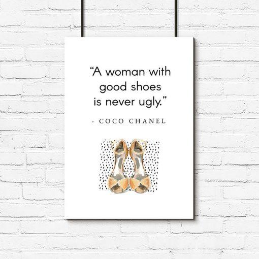 Plakat Coco Chanel do pokoju - Good shoes