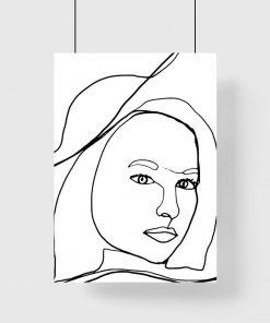 Plakat z minimalistycznym motywem kobiety do pokoju