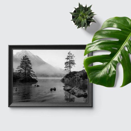 Plakat do sypialni - Jezioro i drzewa