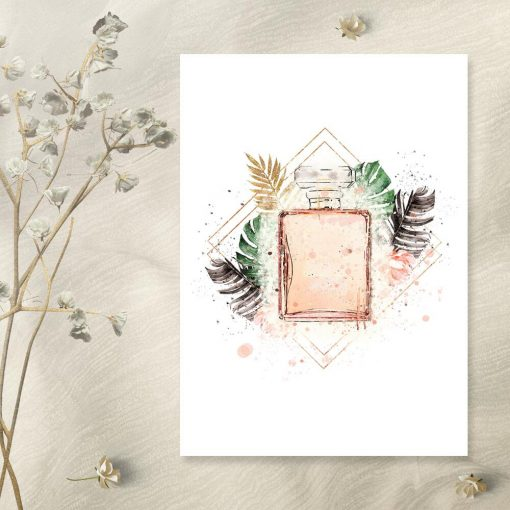 Plakat z perfumami do sypialni
