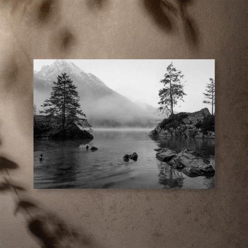 Plakat do salonu - Jezioro i drzewa