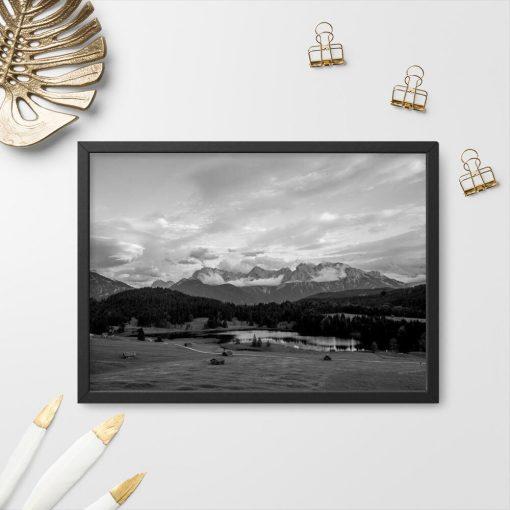 Plakat z jeziorem Geroldsee do biura podróży