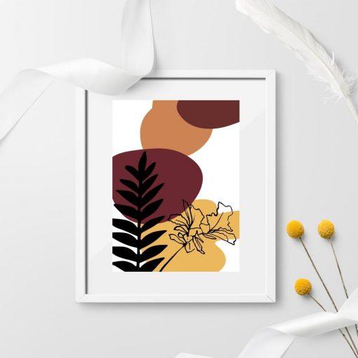 Plakat do przedpokoju z motywem botanicznym